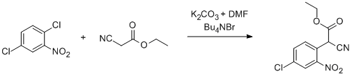 &#xA;			Reaction Scheme: <img src=&quot;/images/empty.gif&quot; alt=&quot;&quot; />Nucleophilic aromatic substitution with <span id=&quot;csm1341246363243&quot; class=&quot;csm-chemical-name&quot; title=&quot;ethyl cyanoacetate&quot;>ethyl cyanoacetate</span><img src=&quot;/images/empty.gif&quot; alt=&quot;&quot; />