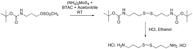 &#xA;			Reaction Scheme: <img src=&quot;/images/empty.gif&quot; alt=&quot;&quot; />Sulfur transfer reaction of tetrathiomolybdate with a sulfonic ester<img src=&quot;/images/empty.gif&quot; alt=&quot;&quot; />