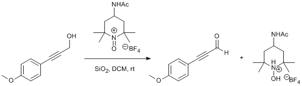 &#xA;			Reaction Scheme: <IMG src=&quot;/images/empty.gif&quot;>Oxidation of <SPAN id=csm1356709608564 class=csm-chemical-name title=3-(4-methoxyphenyl)prop-2-yn-1-ol grpid=&quot;1&quot;>3-(4-methoxyphenyl)prop-2-yn-1-ol</SPAN> by an Oxoammonium Salt<IMG src=&quot;/images/empty.gif&quot;>
