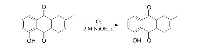 &#xA;			Reaction Scheme: <IMG src=&quot;/images/empty.gif&quot;>Alkaline Air Oxidation of <SPAN id=csm1471530235698 class=&quot;csm-chemical-name csm-not-validated&quot; title=5-hydroxy-2-methyl-1,4,4a,9a-tetrahydroanthracene-9,10-dione grpid=&quot;2&quot;>5-hydroxy-2-methyl-1,4,4a,9a-tetrahydroanthracene-9,10-dione</SPAN><IMG alt=&quot;&quot; src=&quot;/images/empty.gif&quot;><IMG src=&quot;/images/empty.gif&quot;>