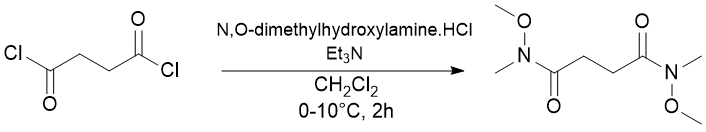 &#xA;			Reaction Scheme: <IMG src=&quot;/images/empty.gif&quot;>Synthesis of a Weinreb amide.<IMG src=&quot;/images/empty.gif&quot;>