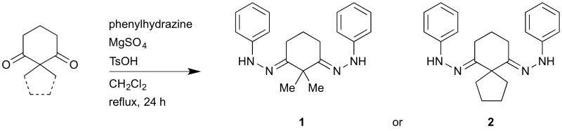Reaction Scheme: Bis(phenylhydrazones) derived from 2,2-dialkyl cyclohexane-1,3-diones