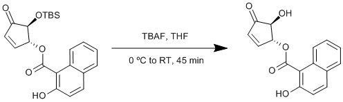 "Reaction Scheme: <IMG src=""/images/empty.gif"">Deprotection of a tert-butyldimethylsilyl ether<IMG src=""/images/empty.gif"">"