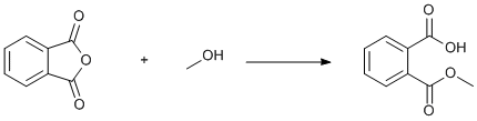 "Reaction Scheme: Methanolysis of <SPAN class=csm-chemical-name id=csm1285705409922 title=""phthalic anhydride"">phthalic anhydride</SPAN>"