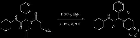 Reaction Scheme: Intramolecular nitrile oxide cyclization (INOC)