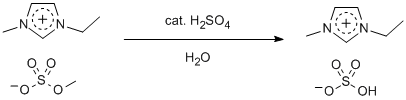 "Reaction Scheme: <IMG src=""/images/empty.gif"">Hydrolysis of <SPAN id=csm1352904260820 class=""csm-chemical-name csm-not-validated"" title=""1-ethyl-3-methylimidazolium methyl sulfate"" grpid=""1"">1-ethyl-3-methylimidazolium methyl sulfate<IMG src=""/images/empty.gif""></SPAN>"