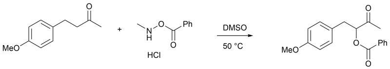 Reaction Scheme: α-Oxidation of Ketone